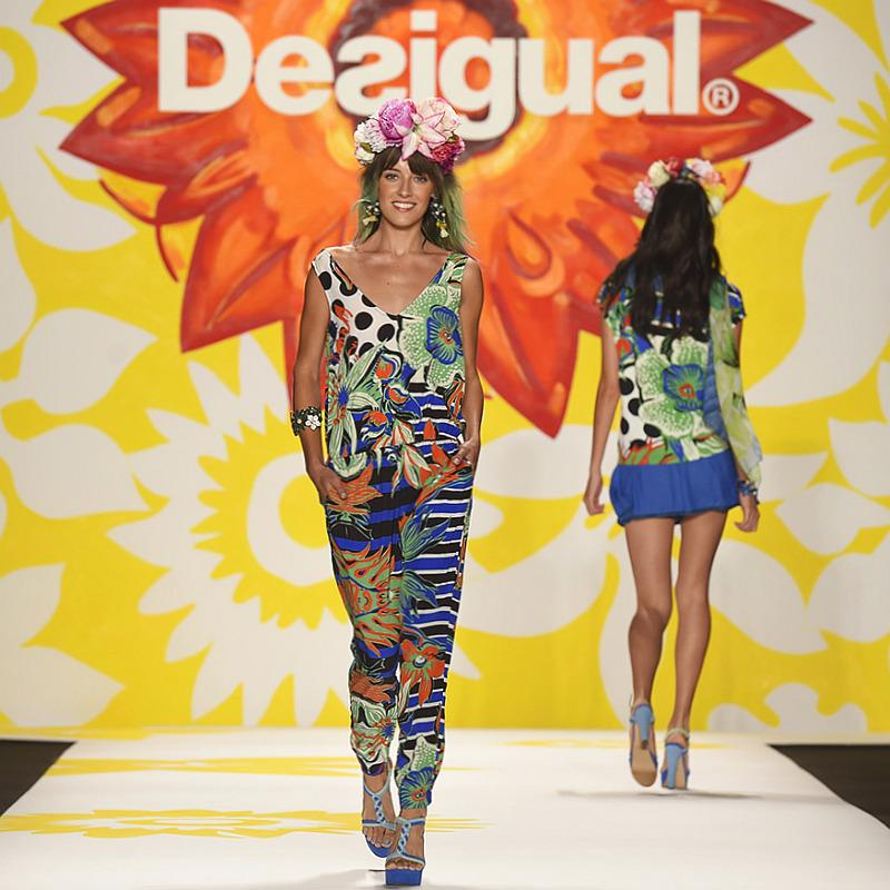 desigual bold tropical floral shirt and trousers nyfw s/s 2015 c/o desigual españa