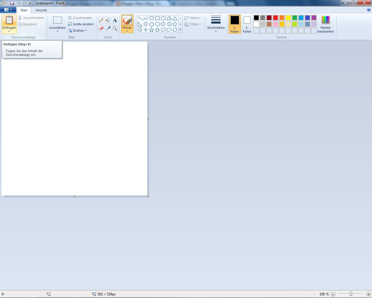 ScreenShot - Einfügen - Paint