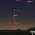 Mặt Trăng đến gần Sao Thủy ở gần đường chân trời sáng ngày 5/8