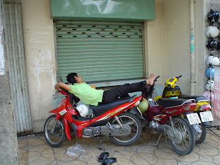 Napping on the bike (Vietnam)