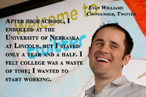 Education quotes by Evan Williams