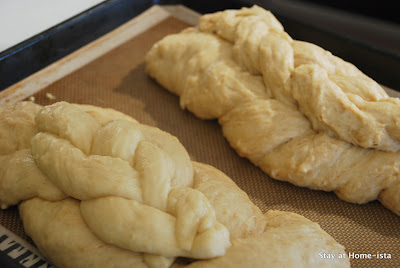 traditional and double braid challah