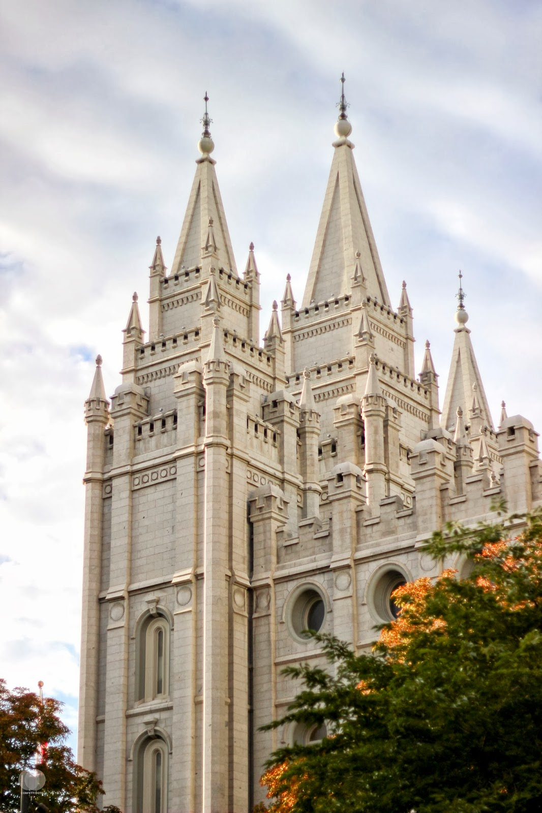 Salt Lake City Temple | Confetti Dots Blog. All Rights Reserved.