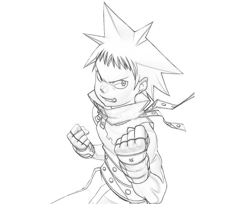 Soul Eater Coloring Pages Black Star