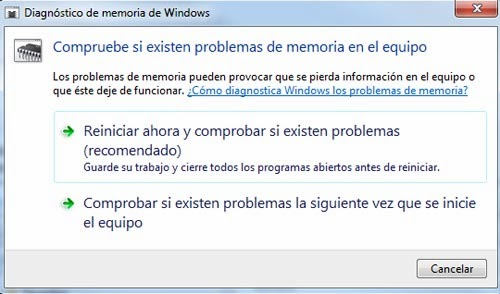 Diagnóstico de memoria de Windows
