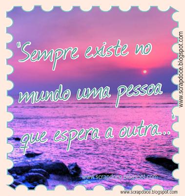 Foto Mensagem sobre Amor/Esperar com frase de Paulo Coelho para compartilhar no Facebook