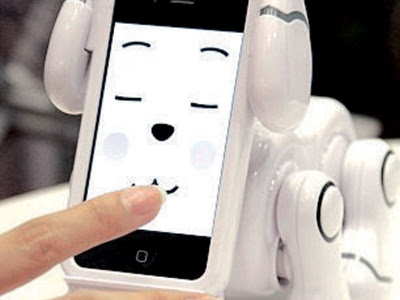 Haiwan abad ke-21. robot anjing SmartPet diperkenalkan dalam Pameran Permainan Tokyo ini boleh mempamerkan emosi.