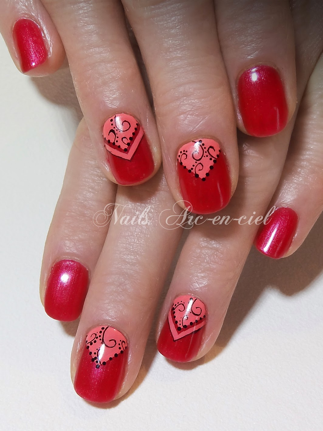 nail art oriental vernis Shellac
