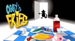 Game Oggy nấu ăn - Oggy giữ thức ăn
