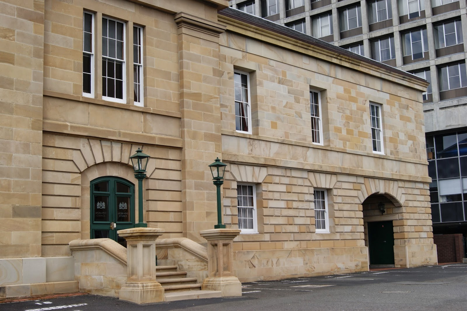 on the convict trail parliament house hobart. Black Bedroom Furniture Sets. Home Design Ideas