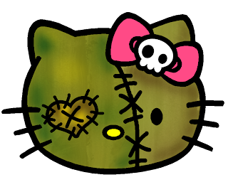 Hello Kitty zombie face