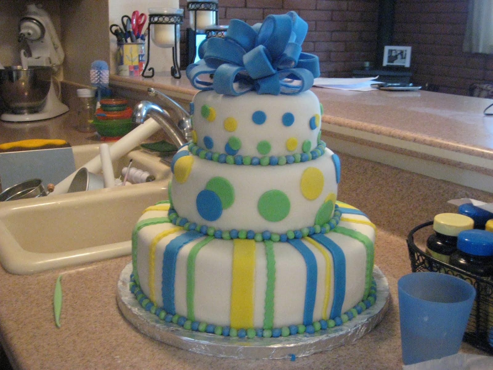 abcd cakes the good the bad and the ugly 3 tier baby shower cake