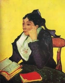 A arlesiana: Madame Ginoux com livros - 1888