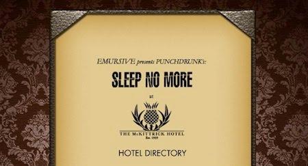 Indulge Inspire Imbibe Sleep No More Nyc