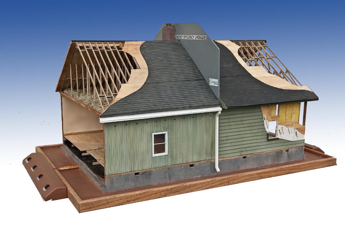 Model house framing