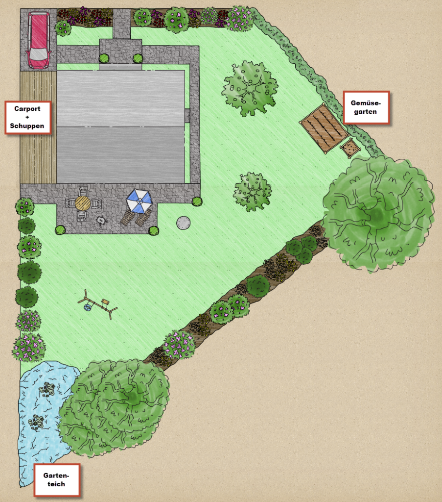 HuMs Baublog: Gartenplanung / Pfasterflächen