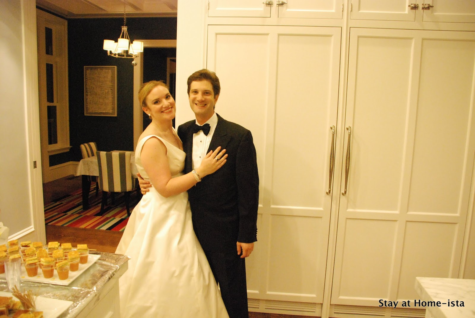 Stay at home ista wear your wedding dress an anniversary party