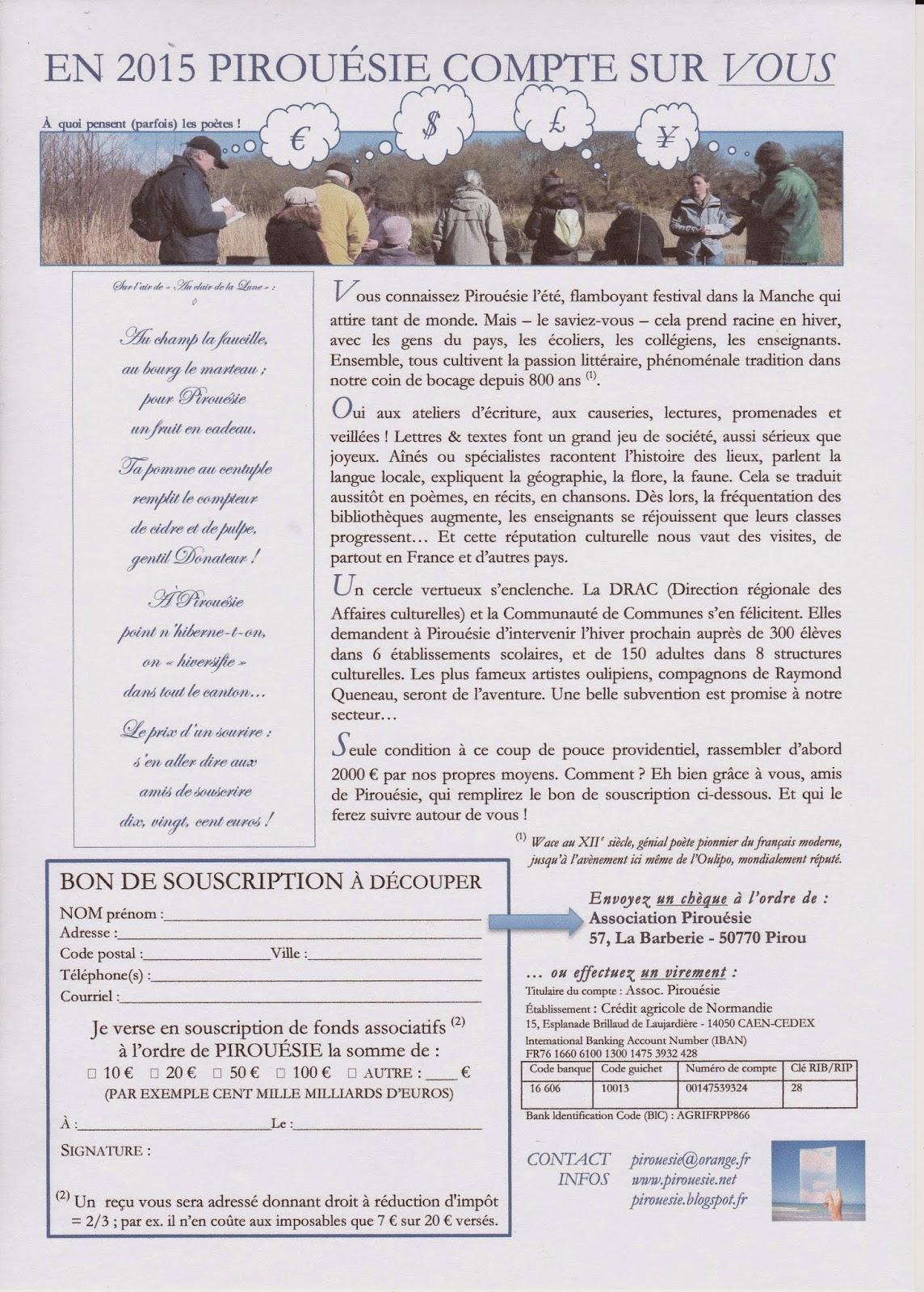 L'appel à souscription en pdf