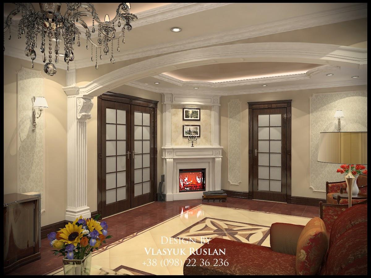 Дизайн інтер єру залу в класичному