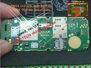 Nokia 110 Lcd Light Solution By Jumpering ways