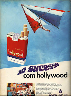 anúncio de cigarros hollywood anos 70; propaganda anos 70; história decada de 70; reclame anos 70; propaganda cigarros anos 70; Brazil in the 70s; Oswaldo Hernandez;