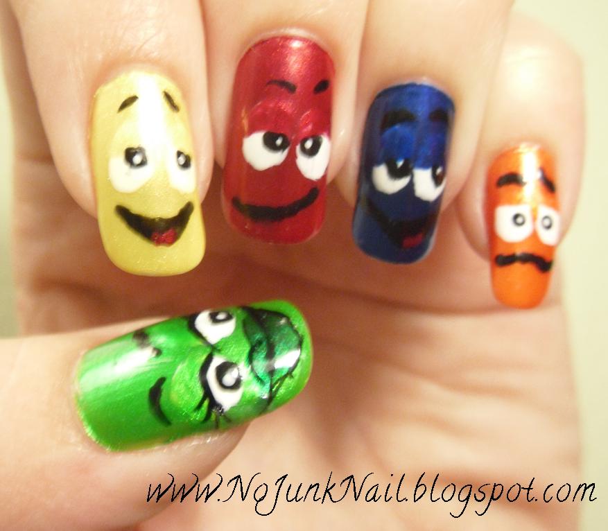 Character Design Nails : No junk nail m s characters nails