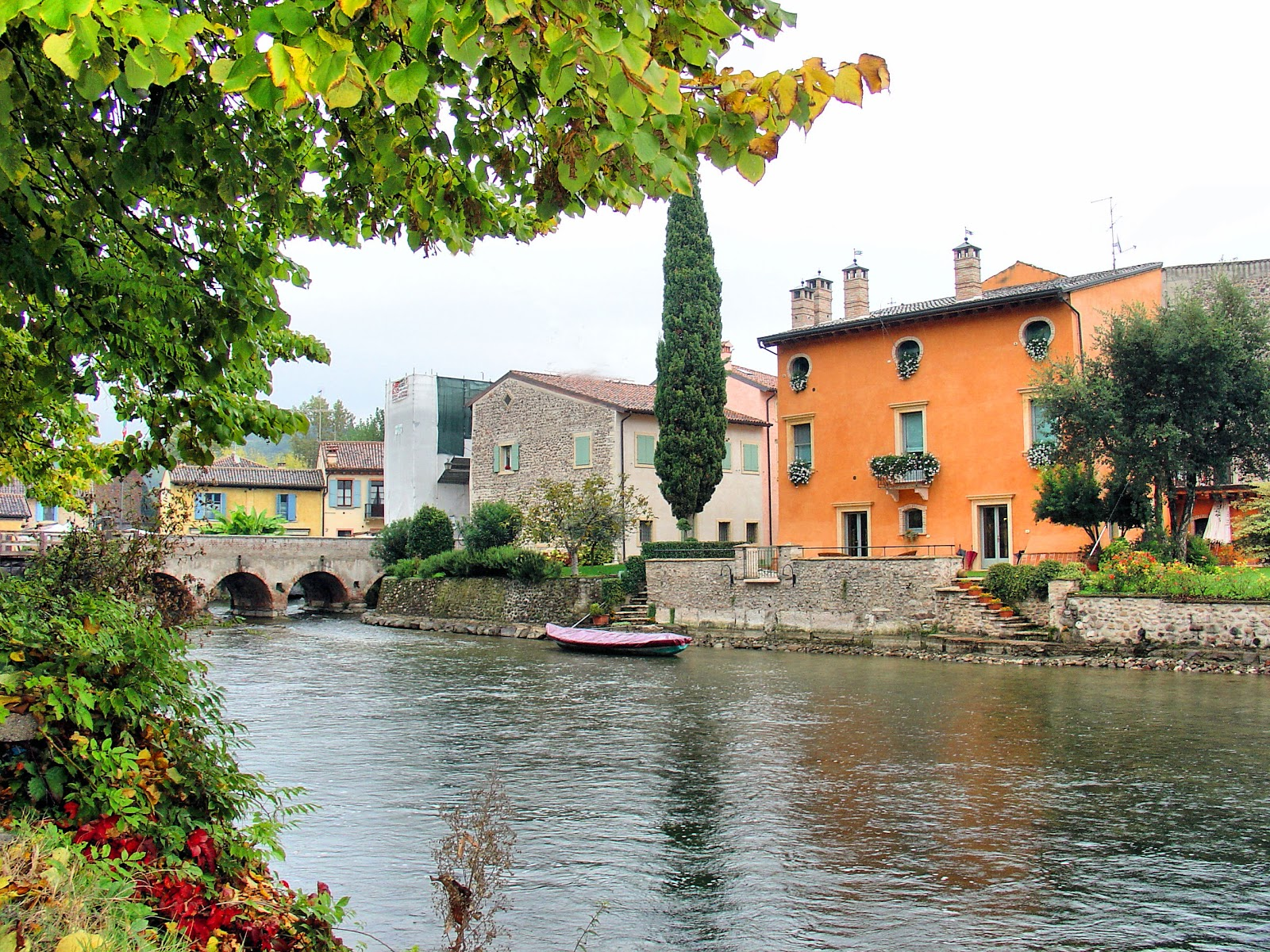 Gazing upon the village of Borghetto along the banks of the Mincio River.