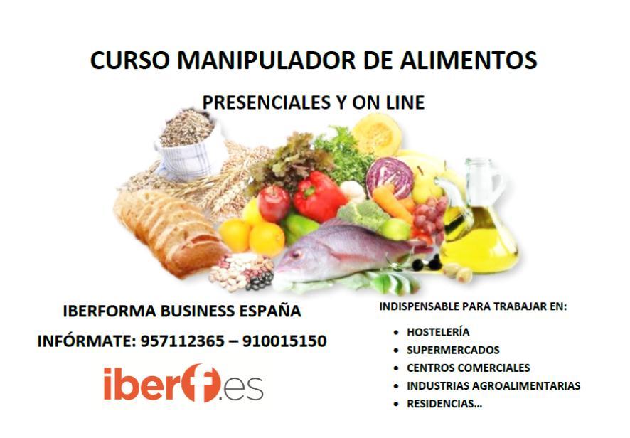 Iberforma business espa a sl curso manipulador de alimentos presenciales y on line - Manipulador de alimentos on line ...