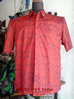 Hasil Jahitan RUDYS Tailor - Kemeja Batik Furing