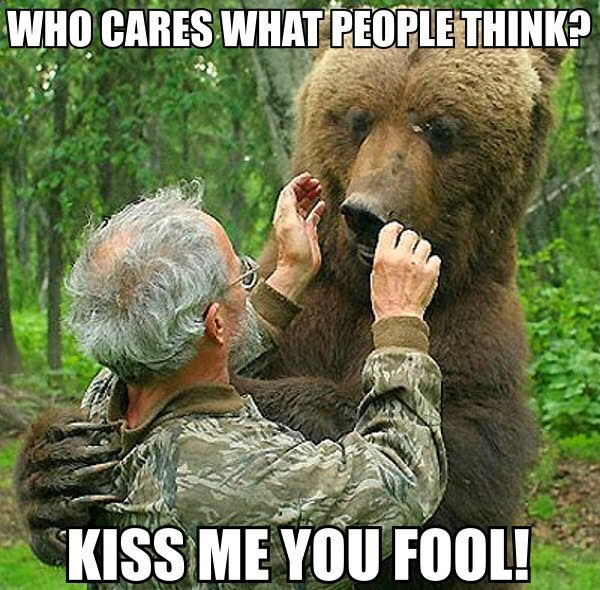 30 Funny animal captions - part 18 (30 pics), bear meme, kiss me you fool