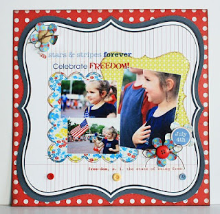 SRM Stickers Blog - Parade of 4th of July Projects - #rthofjuly #layouts #cards #altered  #favors