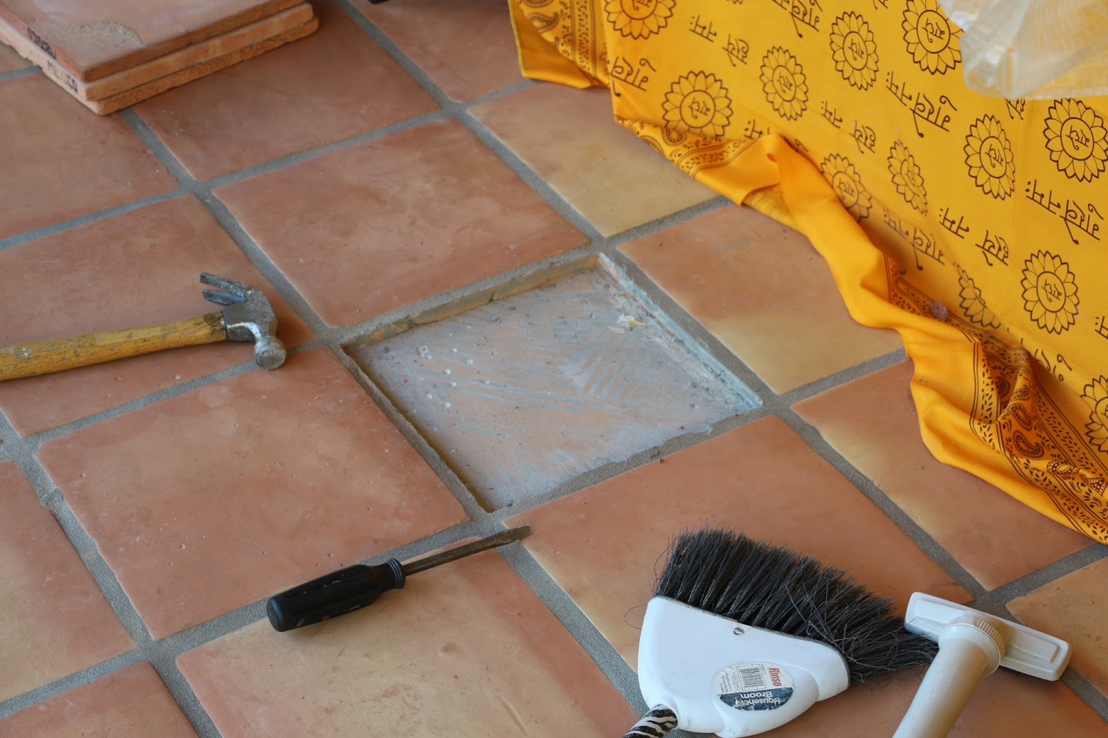 Dusty coyote replacing a cracked or chipped tile replacing a broken tile diy broken tile dailygadgetfo Choice Image