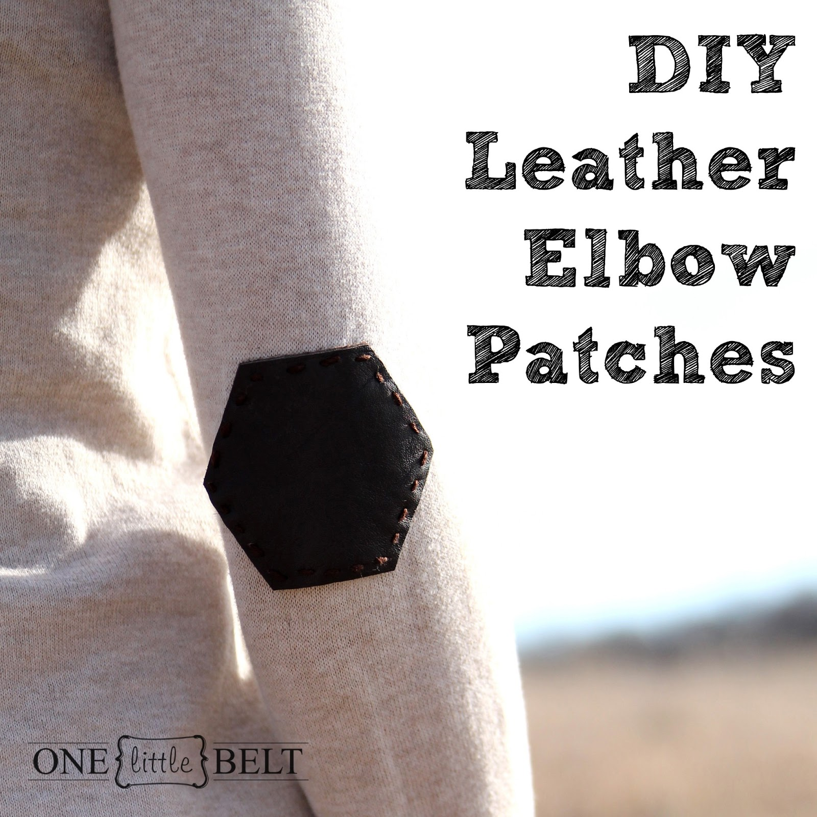 Diy leather elbow patches hexagon one little momma i posted a few weeks ago that i am in love with hexagons right now the honeycomb trend is so refreshing and when i started this project it seemed only maxwellsz