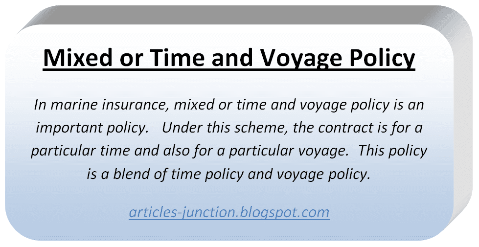 Mixed or Time and Voyage Policy