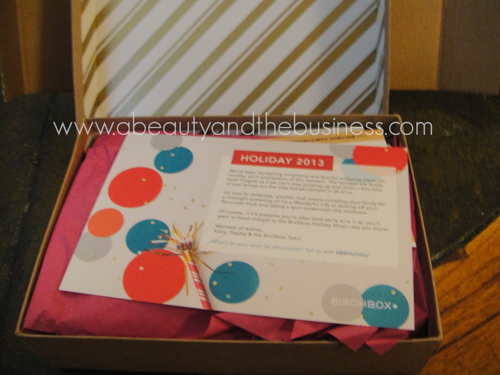 birchbox, sparkle and shine, birchbox december, birchbox december 2013, birchbox 2013, monthly subscription,