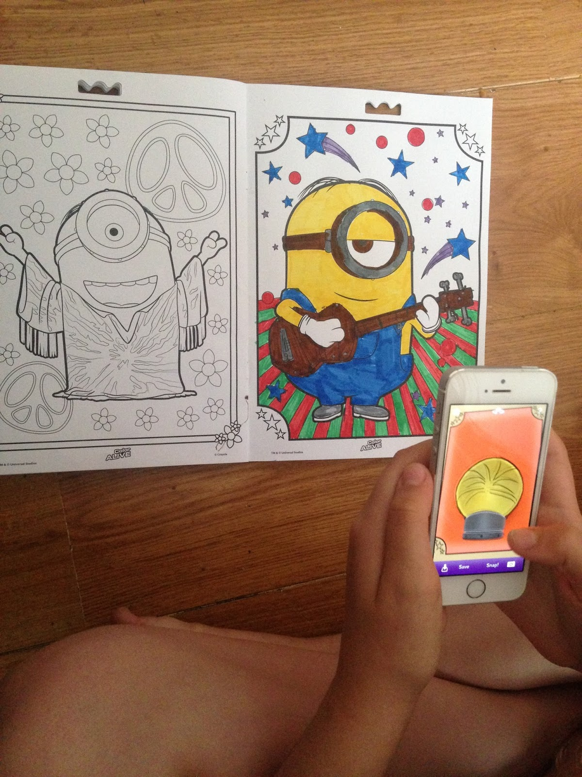 minion in 4d - Color Alive Coloring Pages Minions