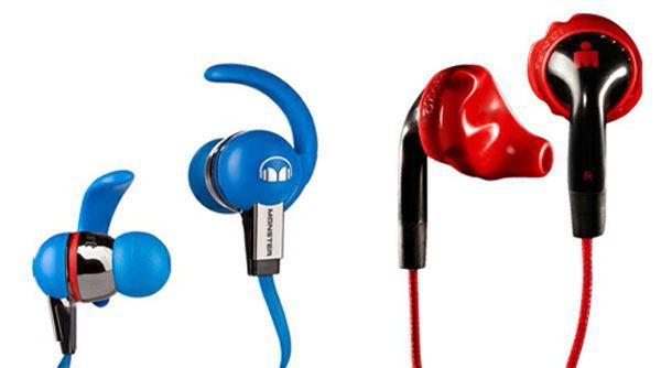 Tai nghe Monster iSport (trái) và Yurbuds (phải)