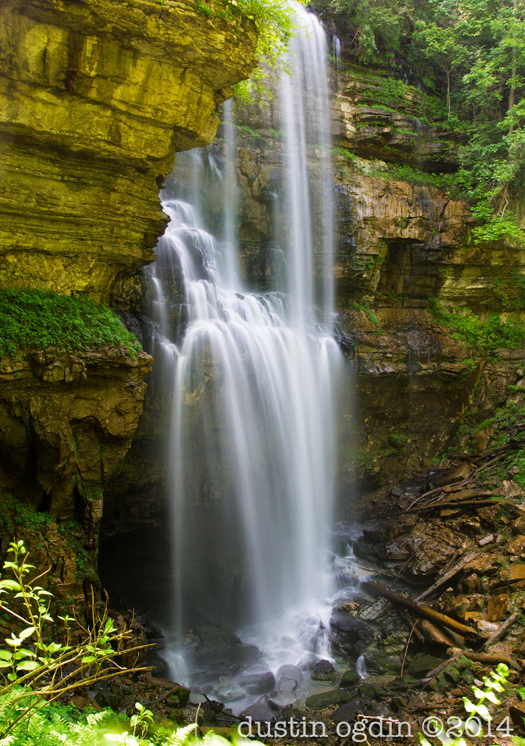 Virgin Falls in Tennesee's Cumberland Plateau region