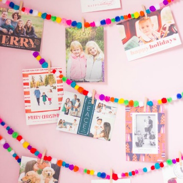 The sweetest way to display your holiday cards!