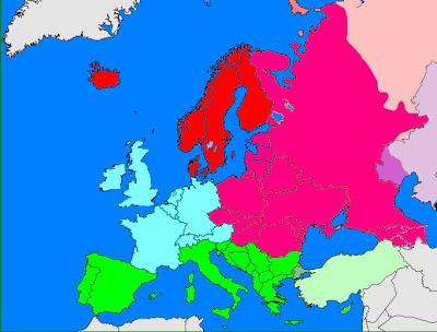 Αντιστοιχίζω κράτη και περιοχές της Ευρ'ωπης