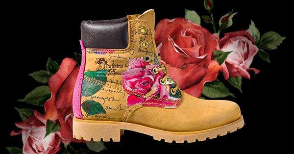Panama 03 botas estampado rosa