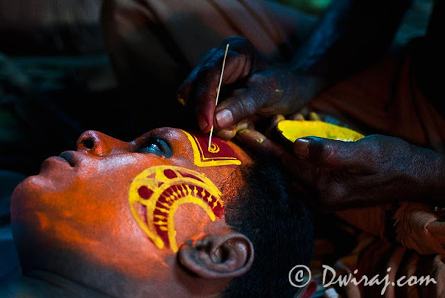Theyyam- Artistic touch to the grand make-up