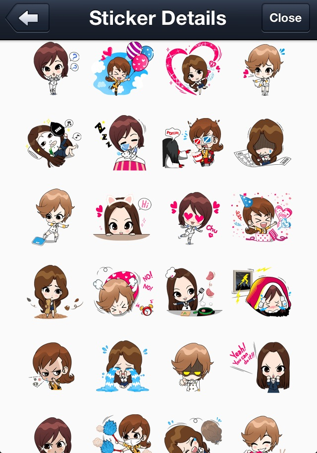 kara line stickers