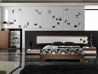 habitación gris blanco