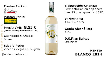 Comprar Vino blanco Kentia 2014