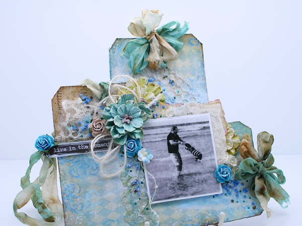 Scrap-Tag - 'Vacation Time' over at Frilly and Funky