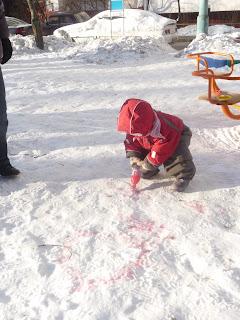 игры на прогулке зимой