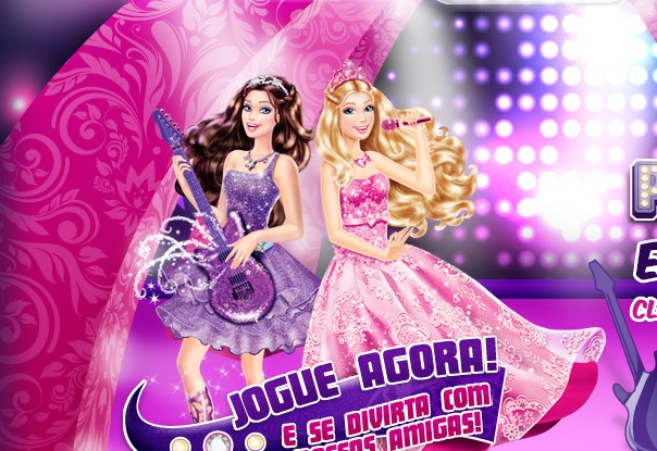S Pictures Jogo De Cama Barbie A Princesa E Pop Star Pe As