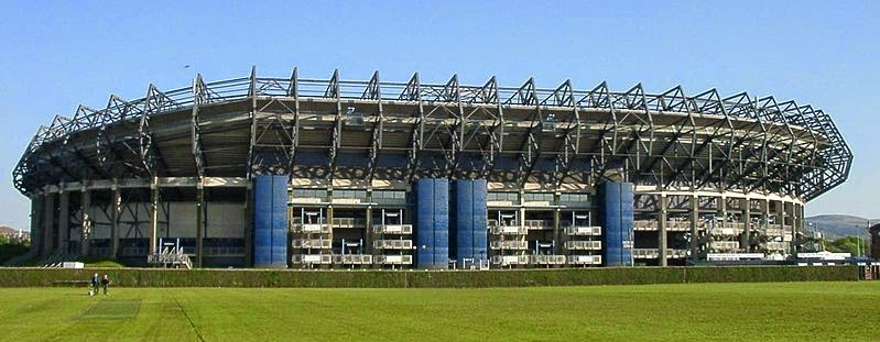 view of murrayfield stadium from outside