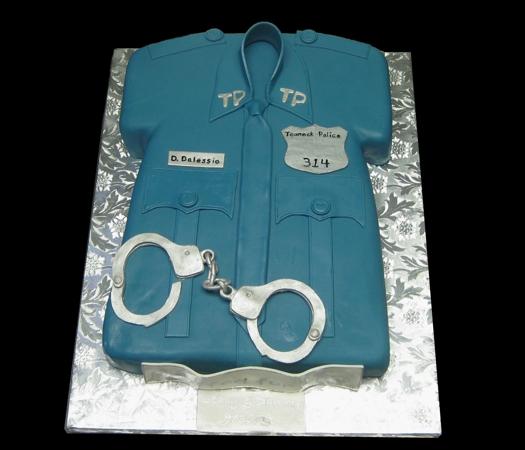 Cake Design For Police : Confectionary Designs: Policeman Shirt Groom s Cake